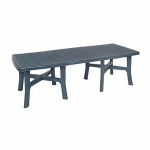 Tavoli Da Esterno Plastica Allungabili.Tavolo Da Giardino In Plastica Allungabile Trio Plus Verde