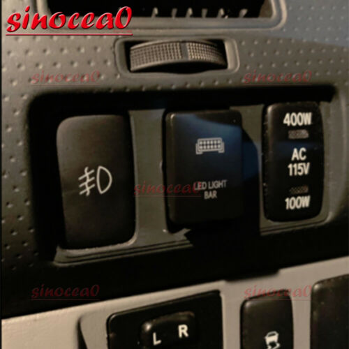 For Toyota Sequoia Tacoma Yaris LED LIGHT BAR Push Button Switch+Connector Wire