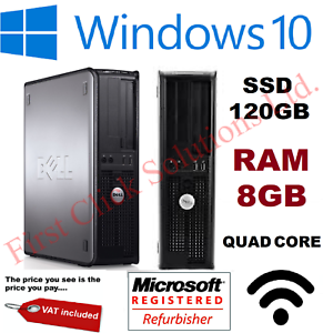 FAST-DELL-QUAD-CORE-PC-COMPUTER-DESKTOP-TOWER-WINDOWS-10-WI-FI-8GB-RAM-120GB-SSD