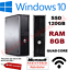 Rapide-Dell-Quad-Core-Ordinateur-PC-De-Bureau-Tour-Windows-10-Wi-Fi-8-Go-RAM-120-Go-SSD miniature 1