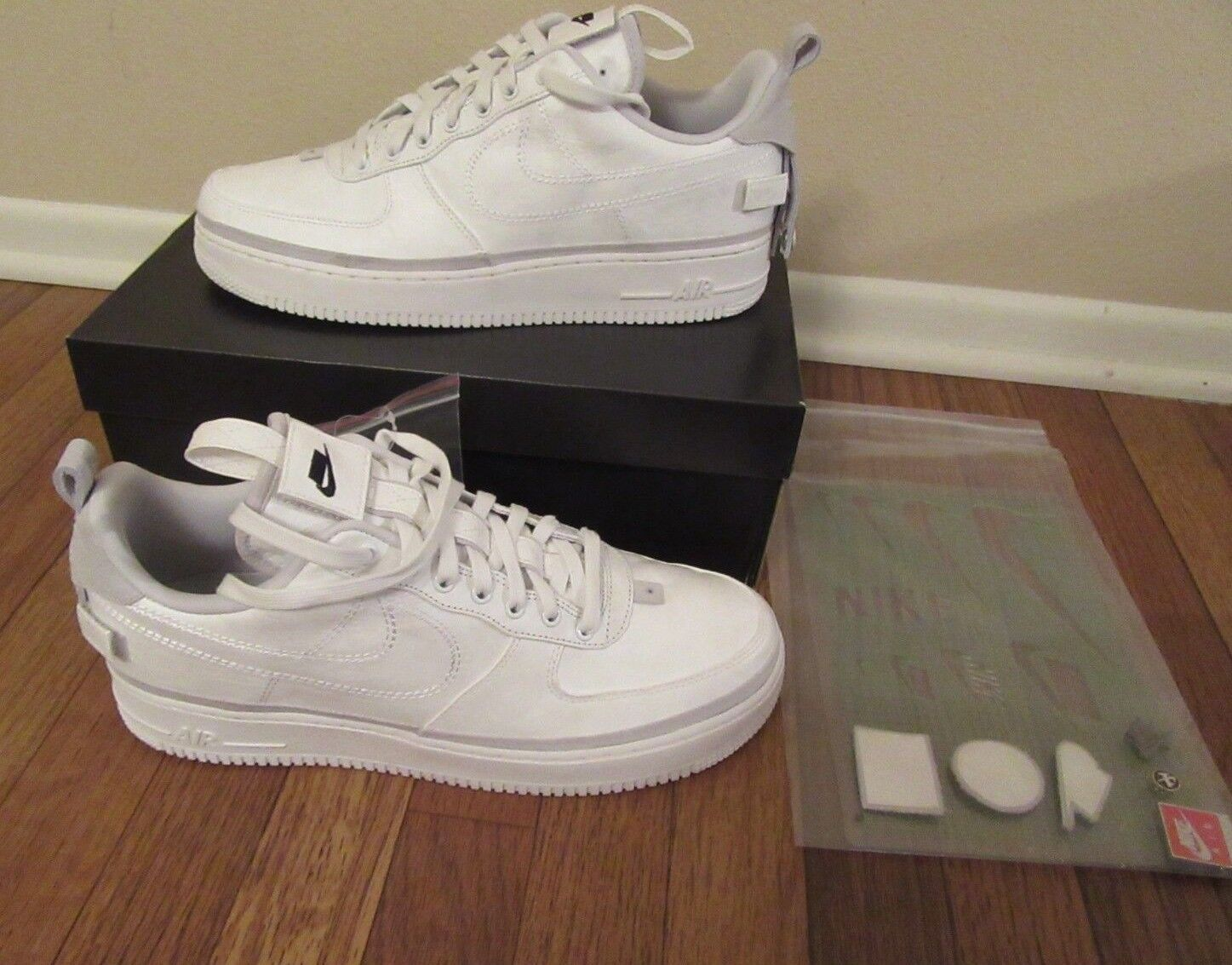 Nike Air Force 1 '07 AS QS 90 10 Size 11.5 Vast Grey White AH6767 001 New NIB