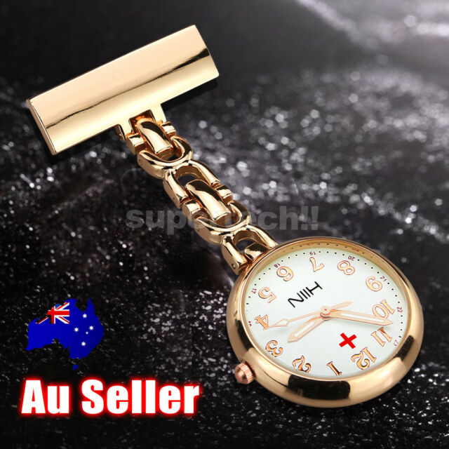 Rose Gold Nurses Fob Watch Luminous Hands Large Face Free Post 2017 Model