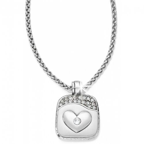 NWT Brighton JOURNEYS HEART Love Answer Crystal Valentine Necklace MSRP $52
