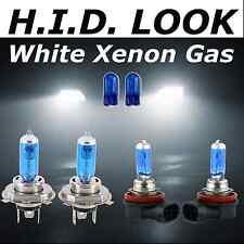 H4 H11 501 60/55w White Xenon HID Look Headlight Low High Fog Beam Bulbs Package