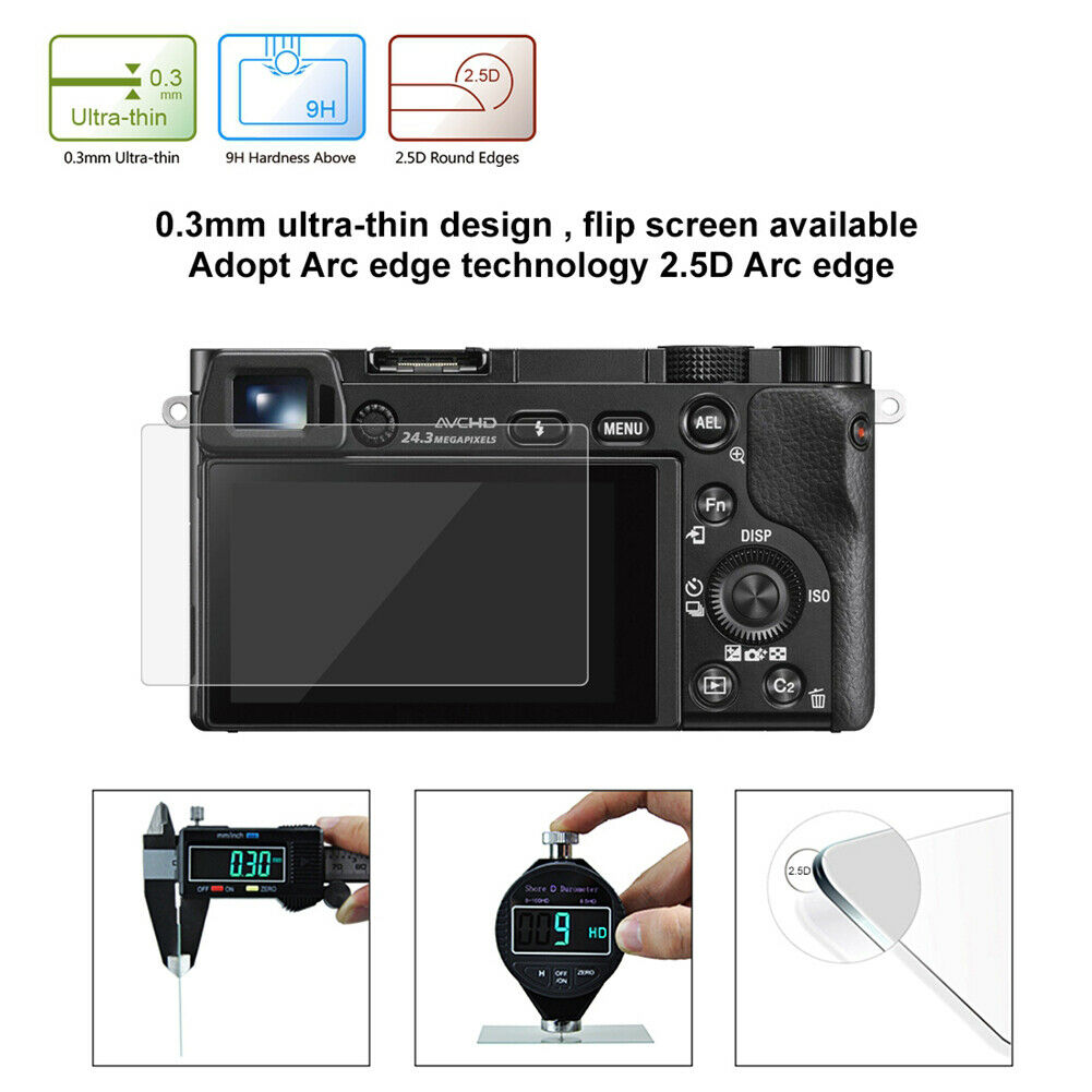 HD Tempered Glass LCD Screen Protector Film For Sony A6000/A6500 SLR Camera 7A4