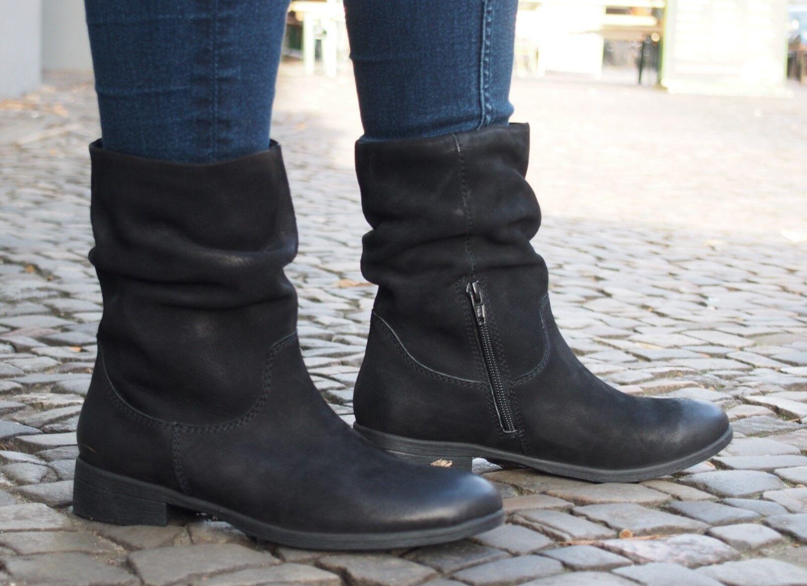 SPM Winterschuhe 12532879 black mollis Echtleder Damenschuhe Stiefeletten NEU 37