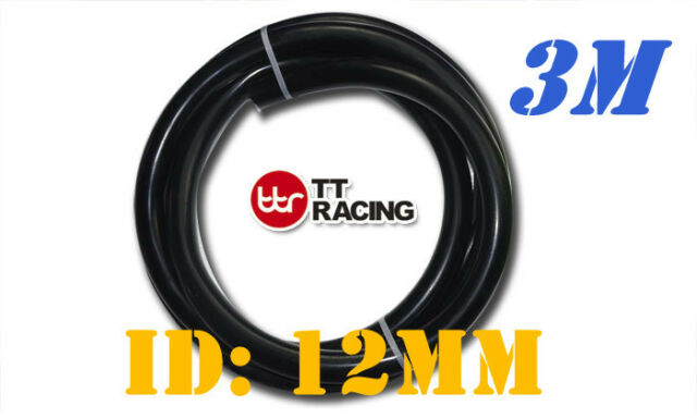 "12mm 1/2"" Silicone Vacuum Tube Hose Silicon Tubing 10ft 3M 3 Meters Black"