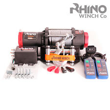 Electric Recovery Winch - 12v 4500lb Steel Cable - Heavy Duty, Boat, 4x4 ~ RHINO