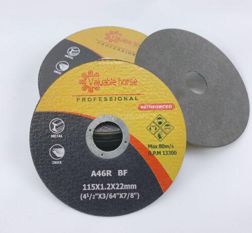 "Metal /& Stainless Steel Cutting Discs 100 Pcs 4-1//2/""x.040/""x7//8/"" Cut-off Wheel"