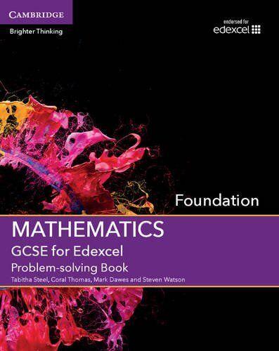 1 of 1 - GCSE Mathematics for Edexcel Foundation Problem-solving Book, Watson, Steven, Da