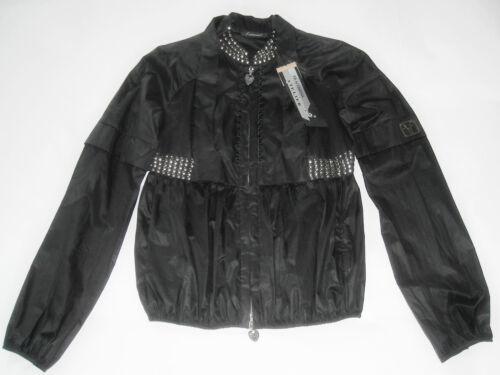 Jacket Atelier Borchiato Donna Fracomina Studded Nwt M Giubbotto Giubbino Black tPcHS