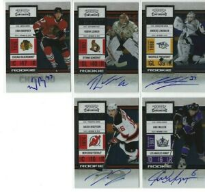 Contenders-Panini-Hockey-Card-Auto-Autograph-Rookie-LOT-of-8-Lehner-Muzzin-L-k