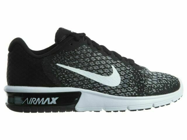 Size 5.5 - Nike Air Max Sequent 2 Black White for sale online | eBay