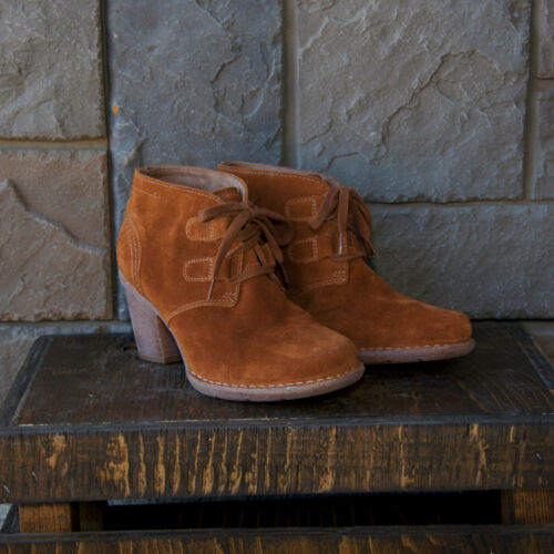 Clarks Tan Suede ladies ankle boots size 4.5//37.5-9//43 RRP £90
