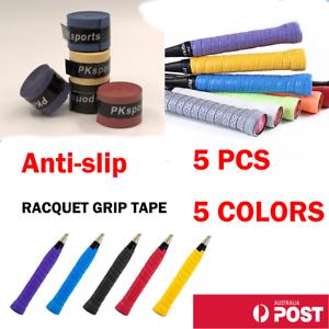 5 x Anti-slip Tennis Badminton Squash Racquet Over Grip Tape Overgrip Sweatband