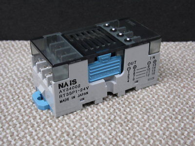 1Set 4pcs RT3SP1-24V Relay Socket W//AQZ102 Solid State Relay