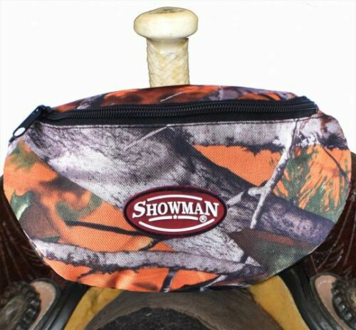 Showman Real Oak Camouflage Insulated Nylon Saddle Pouch