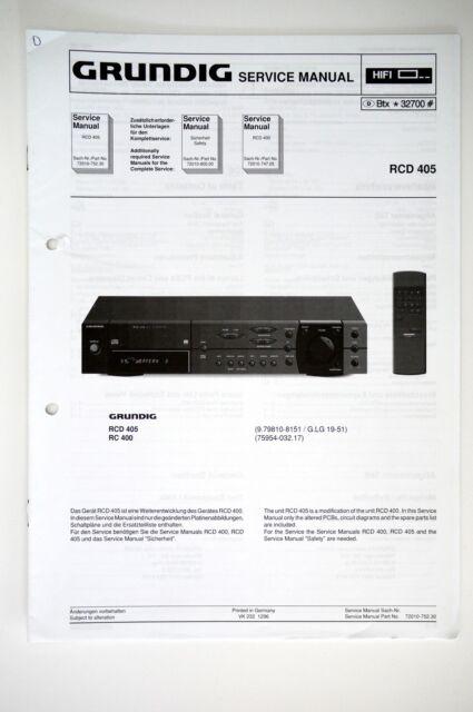 Grundig Rcd 405 Original Receiver Service Manual  Guide   Wiring Diagram O53
