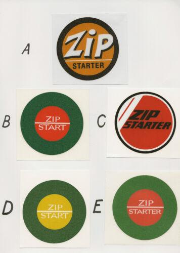 Victa Round Zip Starter Vintage Mower Repro Decals