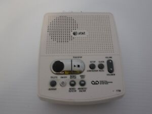 at t 1739 corded digital answering system time day stamp ac power rh ebay com at&t 1739 answering machine user manual at&t model 1739 answering machine manual