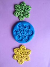 LG CROCHET FLOWER Mould Cupcakes Chocolate Sugarcraft Cake Topper  Fimo