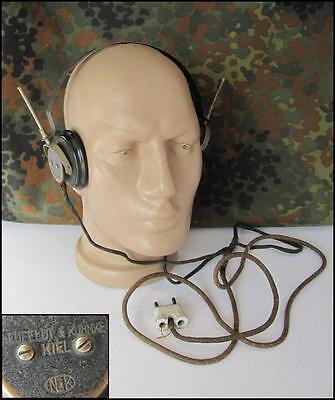 WWII ORIGINAL GERMAN WEHRMACHT RADIO HEADPHONES – N&K