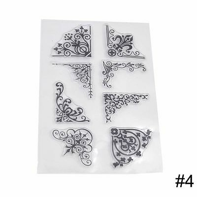 Butterfly Alphabet Scrapbooking Decorating Rubber Transparent Stamp Silicone