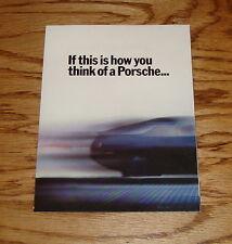 Original 1985 Porsche 928S Foldout Sales Brochure 85