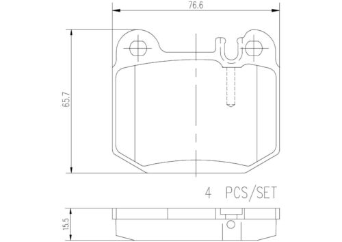 For Mercedes ML430 ML500 ML55 AMG Rear Brake Pad Set P50043N Brembo