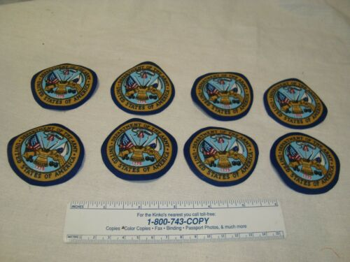 U.S Department of the Army Hooah Cotton Fabric Iron-On Patches Appliques