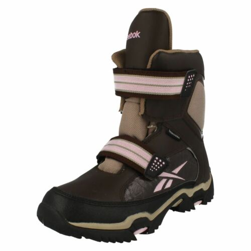 R34A Reebok J19370 Canyon Ladies Tutu Pink Rip Tape Strap Sports Winter Boots