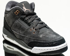 1957a04bb2d Air Jordan 3 Retro GG Anthracite Bronze youth lifestyle sneakers ...