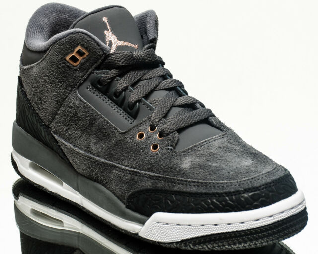 47eeda70d54585 Air Jordan 3 Retro GG Anthracite Bronze youth lifestyle sneakers NEW  441140-035