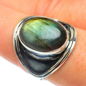 Labradorite-925-Sterling-Silver-Ring-Size-8-75-Ana-Co-Jewelry-R43951F