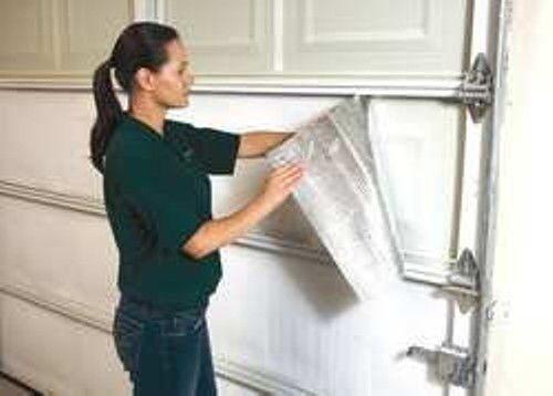 NASATEK Foam Core Reflective Insulation Garage Door White Foil 21IN x 9ft Roll