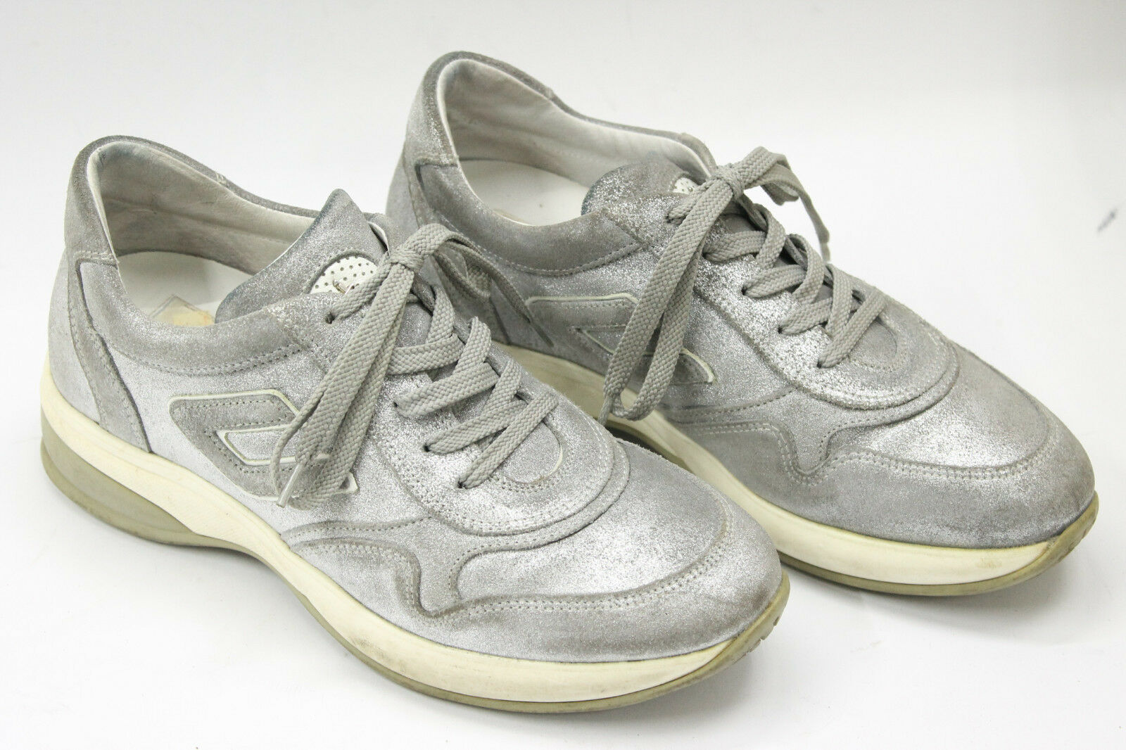 4 US CESARE PACIOTTI femmes chaussures  sz 5 Europe 35  gris  suede leather S6922