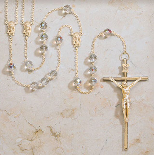 Lasso Wedding Rosary Wedding Ceremony Crystal Beads Gold Tone  Bride And  Groom