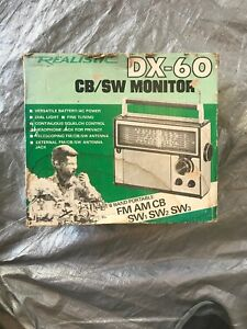 Vintage-Radio-Shack-Realistic-DX-60-w-manual-and-box-BROKEN-ANTENNA
