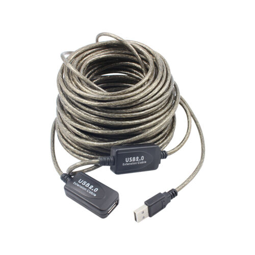 High Speed 2.0 USB EXTENSION Cable Lead A Male To Female Extention 5//10//15//20M
