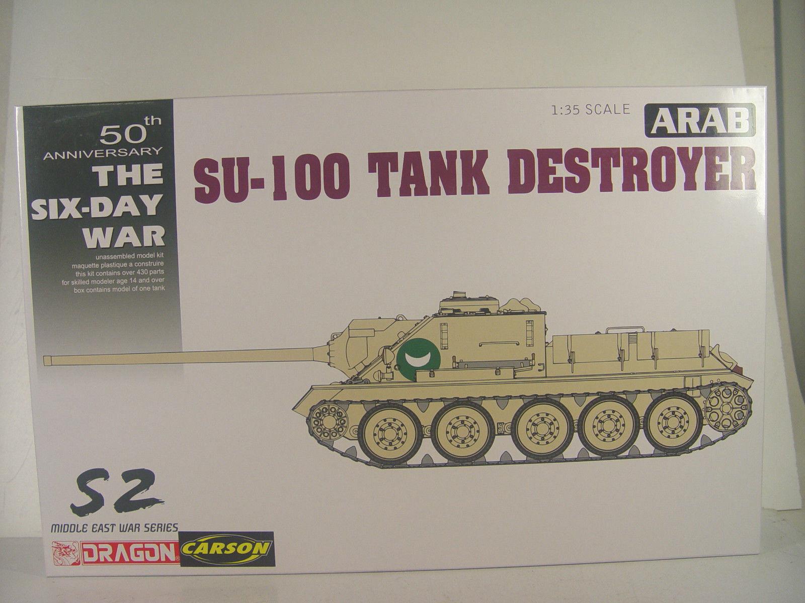Arabischer Kampfpanzer SU-100   - Dragon Bausatz 1 35 - 3572     E  | Mittlere Kosten
