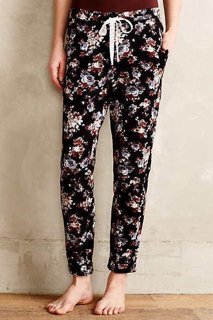 Anthropologie Drawstring Floral Loungers Pants Size S