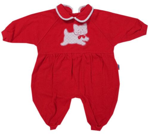 Kanz Overall Babyanzug Unisex Rot Jersey Strampler Baby Gr.56,62,68