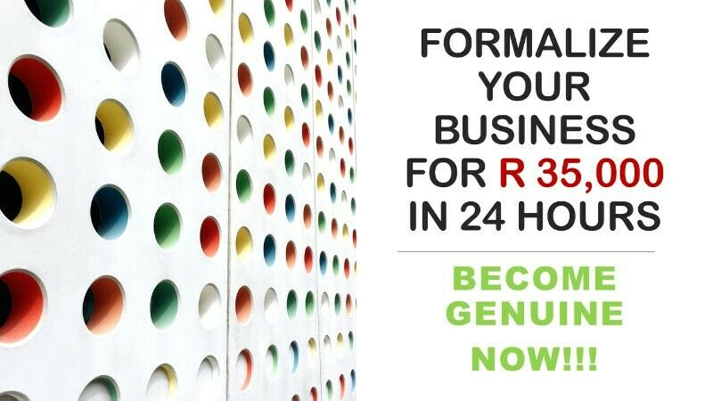 CALLING ALL INFORMAL SMALL BUSINESS OPERATING FROM HOME TO FORMALISE THEIR BUSINESSES FOR R 35,000