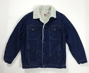 Roy-rogers-giubbotto-sherpa-giacca-jeans-L-vintage-pile-imbottito-usato-T4433