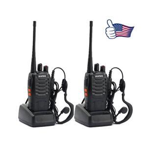 2x-BAOFENG-BF-888S-UHF-400-470MHz-5W-16CH-Long-Range-Two-Way-Radio-Walkie-Talkie