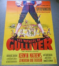 Affiche de cinéma : LES VOYAGES DE GULLIVER de Jack SHER