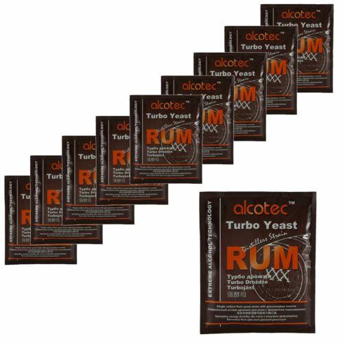 Alcotec Distillers Yeast Rum with Glucoamylase Enzyme 73g 25L