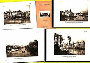 ETTORE-ROESLER-FRANZ-4-BELLISSIME-STAMPE-24X34-ROMA-SPARITA-DEL-1932-ART-819