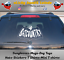 Hunter S Thompson Fear and Loathing bat country 7 inch window vinyl sticker