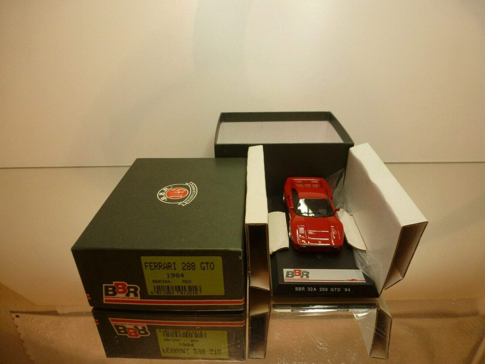 BBR BBR32A FERRARI 288 GTO 1984 - RED  1:43 - EXCELLENT IN BOX